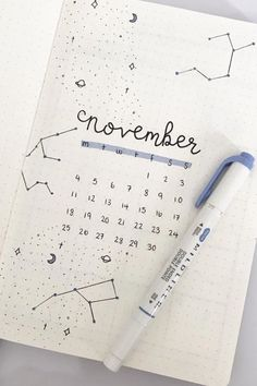 30+ creative bullet journal monthly cover ideas for November #monthlycover #fallbulletjournal #bujocover #bujospread