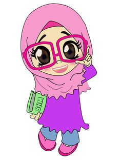 image dp bbm hijab syar i Ponsel Harian Teacher Cartoon, Cartoon Kids, Girl Cartoon, Cute Cartoon, Muslim Pictures, Hijab Drawing, Friend Cartoon, Doodle Girl, Islamic Cartoon