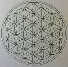 Learn how to draw the Flower of Life with a pair of compasses in this step by step drawing tutorial. The Flower of Life is the modern name given to a geometr. Circle Drawing, Mandala Drawing, Mandala Art, Flower Mandala, Flower Drawing Tutorials, Polynesian Tattoo Designs, Tattoo Feminina, Plant Drawing, Illusion Drawings