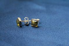 Green Square Amber Earrings - Sterling silver square earrings with green colored amber made from genuine amber and 925 sterling silver. These stud earrings are suitable for all occasions. Also available in cognac color - Amber Earrings, Sterling Silver Earrings, Stud Earrings, Square Earrings, Charlotte, Green, Collection, Color, Jewelry