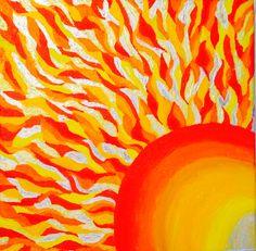 Sun  - Acrylic on Canvas