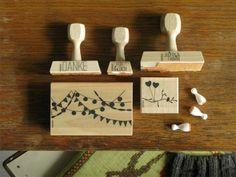 bastisRIKE: Hochzeit-Stempel-Set JUDITH&FABIAN // rubber stamp wedding set JUDITH&FABIAN