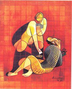 Jogo de Cartas, tempera sobre papel,1947, Colecção particular - Gonçalves, Rui-Mário (2005), Almada Negreiros, foto José Alves