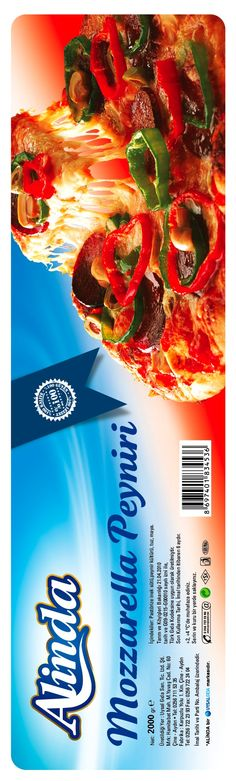 alinda mozeralla peyniri kurumsal ambalaj tasarımları & bobin etiket basımı