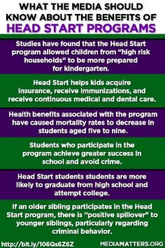 Head Start provides valuable benefits for American children and their parents.
