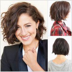 Cortes de cabello ondulado de mujer