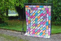 Grab your sunglasses for this quilt I made for Quilt Now magazine using Jungle Ave by Sara Lawson...