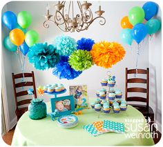 Cutest kid birthday party ever...Noah's DINO-ROAR Party - table