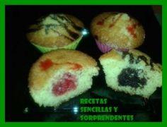 Magdalenas rellenas | Recetas sencillas y sorprendentes Tapas, Muffin, Cupcakes, Relleno, Facebook, Breakfast, Food, Sheet Pan, Fairy Cakes