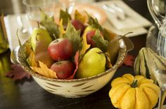 Set a warm, welcoming table this fall with these fun and easy decorating & entertaining ideas. Temptations By Tara, Thanksgiving Table Centerpieces, Happy Room, Hole Puncher, Autumn Table, Mini Pumpkins, Harvest Time, Fall Decorating, Stems