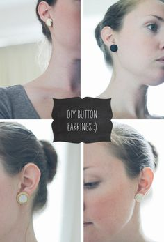 DIY Button Earrings | Fellow Fellow    For when you see that button that is literally 'cute as a button'