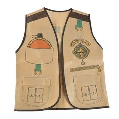 Any vacation bible school counselor should check out this Religious Safari Expedition Vest. A fun addition to your VBS classroom supplies, it comes wi. Safari Vest, Safari Shirt, Safari Crafts, Vbs Crafts, Safari Costume, Jungle Theme Classroom, Sunday School Games, Vbs Themes, Bible School Crafts