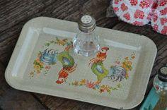 Damita's Pretty Wrap Vintage tray and salt shaker