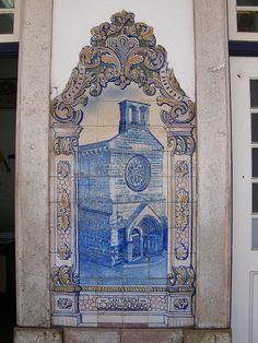 Painel de Azulejos: S. João do Alporão, Santarém, Portugal
