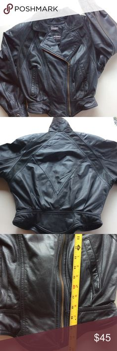 Wilson Vintage Leather Jacket Thermal Insulation Gorgeous Moto Jacket. Vintage. Double zipper for thermal insulation. Great shape except for some little rips in the lining, as it shows in the last picture. Wilsons Leather Jackets & Coats