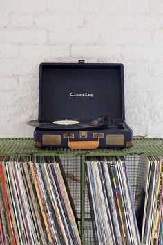 Crosley X UO Cruiser Navy Briefcase Portable Vinyl Record Player