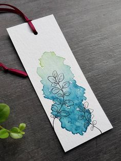 Watercolor Bookmarks, Watercolor And Ink, Watercolor Illustration, Watercolor Flowers, Bookmark Craft, Diy Bookmarks, Art Drawings Sketches, Cute Drawings, Watercolor Paintings For Beginners