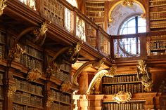 Abbey Library in Melk, Austria