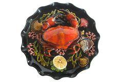 Majolica Crab Platter on OneKingsLane.com