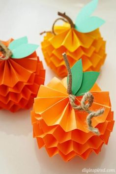 This cute little pumpkin craft for kids also doubles as a great fall decor item for your dining table or mantel. Get the tutorial at DIY Inspired. What you'll need: Paper cutter ($14; amazon.com), Hot glue gun ($11; amazon.com), Twine ($7; amazon.com)