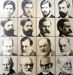 Sigmund Freud photo from young to old.