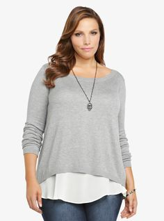 Torrid Clothing Double Layer Pullover Sweater | Torrid