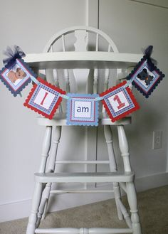 Puppy Dog High Chair Banner, Puppy Party First or Second Birthday Mini Banner on Etsy, $15.00