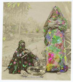 Arab spring- arabic ladies with spring flowers/plants on them- sarcastic