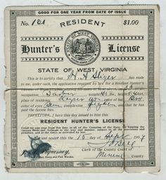 Old hunting license and duck stamps vintage outdoor gear for Wv hunting and fishing license