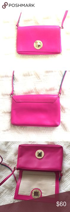 Authentic Kate spade pink cross body bag It is in great condition but has some sign of worn on the metal part and minor dot not the back which is not visible if you do not look hard kate spade Bags Crossbody Bags