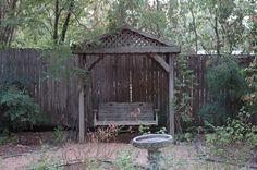 wisteria arbor swing