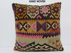 24x24 kilim pillow summer euro sham by DECOLICKILIMPILLOWS on Etsy