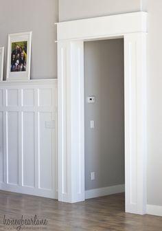 This DIY doorway trim is not as hard as it looks.