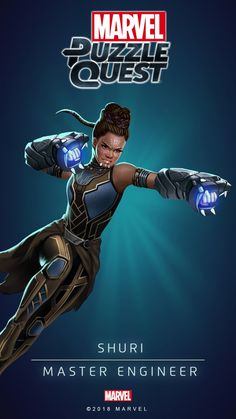 Shuri (Master Engineer) | 4 Stars | Marvel PUZZLE QUEST