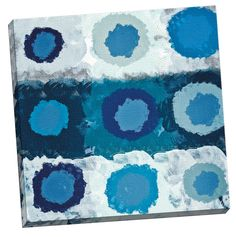 'Orbital Blue' by IHD Studio Painting Print on Wrapped Canvas