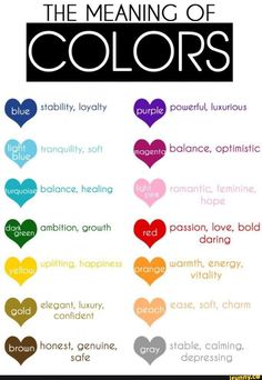 color psychology and color therapy Color Combos, Color Schemes, Healing Light, Colors And Emotions, Color Meanings, Flower Meanings, Flowers And Their Meanings, Color Psychology, Psychology Studies