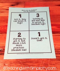 Organize the Post-It note exit tickets. a Class*y Collaboration: The 5 W's of Exit Tickets