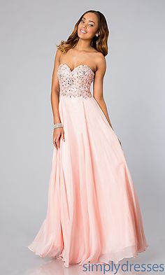 Long Strapless Prom Dress by Alyce Paris 6227 at SimplyDresses.com