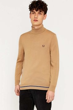 Fred perry Camel Roll Neck Jumper