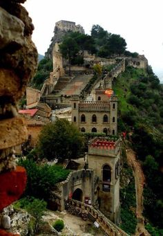 At the Castle of Xativa in Spain.