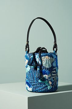 Aranaz Embroidered Marta Bucket Bag