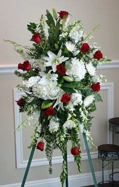 Image result for simple cemetery flower arrangements