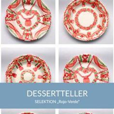 dessertteller_rojoverde_sel Natural Selection, Simple Lines, Tablewares