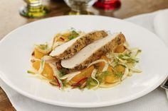 Kyllingsalat med appelsin og fennikel