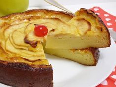 Tarta de manzana Cake Recipes, Dessert Recipes, Desserts, Chesee Cake, Banana French Toast, Flan, Dessert Drinks, Galette, Bakery
