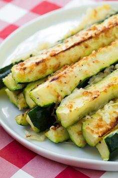 Garlic+Lemon+and+Parmesan+Oven+Roasted+Zucchini
