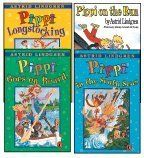 The Pippi Longstocking 4-Book Set: Pippi Longstocking, Pippi Goes on Board, Pippi in the South Seas, and Pippi on the Run by Astrid Lindgren