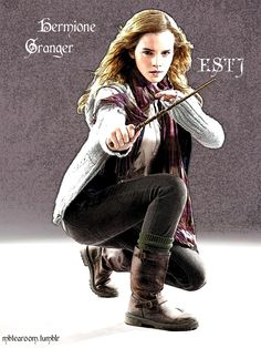 mbtearoom: Harry Potter and the Myer Briggs Type Indicator: Hermione Granger – ESTJTe: Hermione gets shit done. She's extremely zealous, whether it comes to homework, studying, or trying to convince people of a cause. She's firm in her own beliefs of justice and equality (Te + Fi), and can end up as crusading or not considering other people's needs (for example her endeavours to free house-elves against their will). She's frank and speaks her mind bluntly. Her way of thinking is logical and…