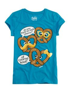 Cheesy Pretzel Graphic Tee   Girls {category} {parent_category}   Shop Justice