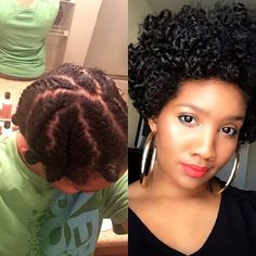 """""""I love this style so much! So easy! I didn't even wash my hair!! I used a spray bottle to get my hair a little damp with water and @camillerosenaturals Curl Love Hair Milk mixed in it and a small amount of the Almond Jai Twisting Butter for more moisture and definition. I did Bantu knots at the ends because I didn't have small rods. but it still turned out FAB!!!!! Threw a bonnet on and went to bedddddd -don't ask why I put those blue dots in my tear duct. I was feeling jazzy this morning…"""